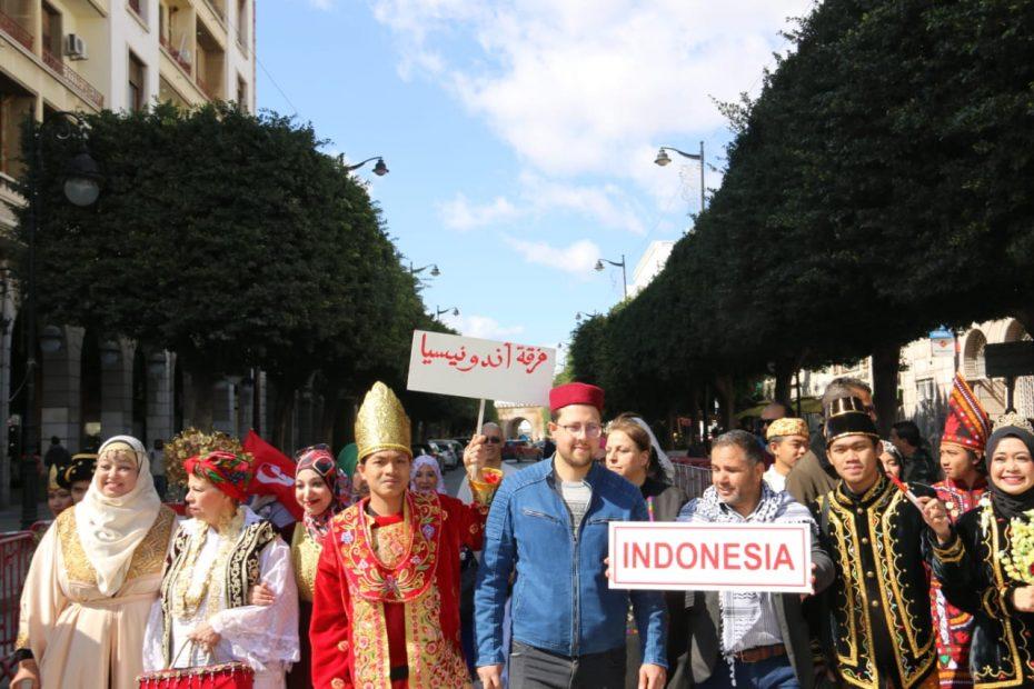 Parade Pakaian Tradisional di Tunisia